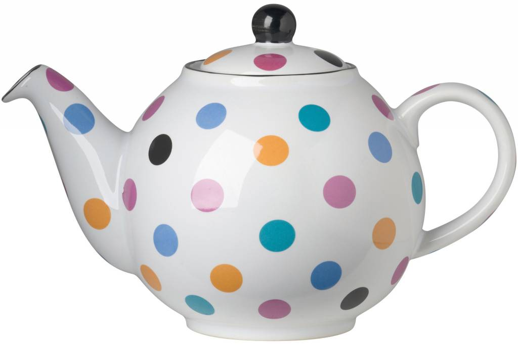 Danica/Now Large Teapot Globe White and Multi Spots