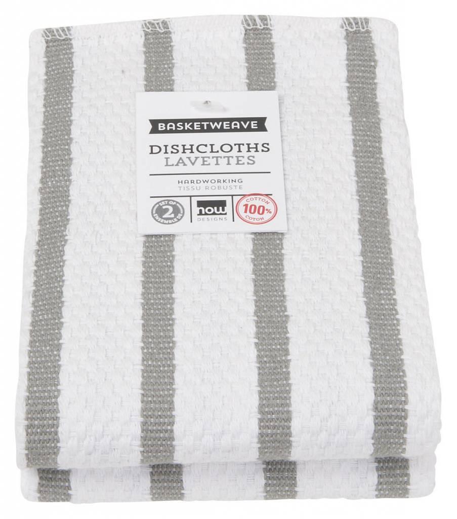 Danica/Now Basketweave London grey Dishcloths