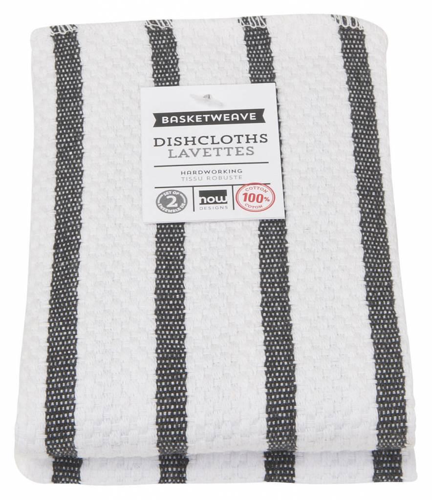 Danica/Now Basketweave black Dishcloths