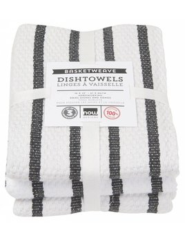 Danica/Now Basketweave black Dishtowels
