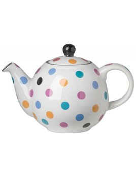 Danica/Now Small Teapot Globe white and multispots