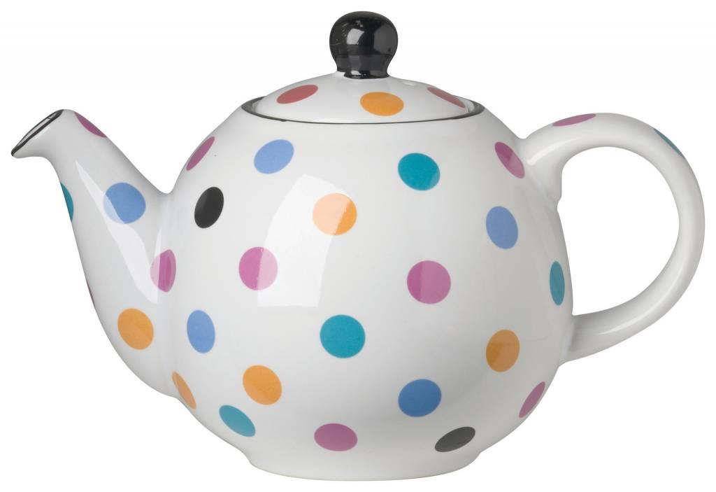 Danica/Now Small Teapot Globe white and multispots
