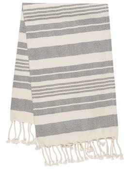 Danica/Now Hammam towel Black Stripe