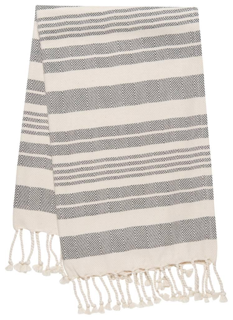 Danica/Now Hammam towel Black Stripe