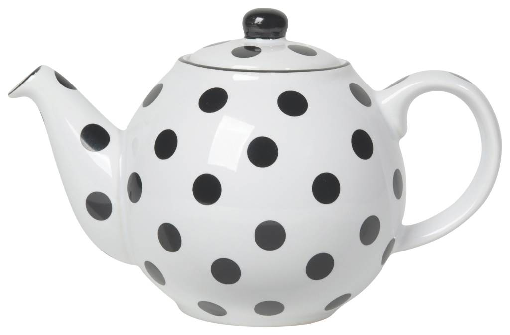 Danica/Now black and white 2 cup teapot