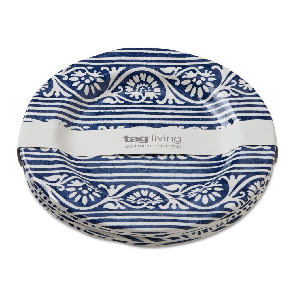 Design Home Artisan melamine salad plate blue