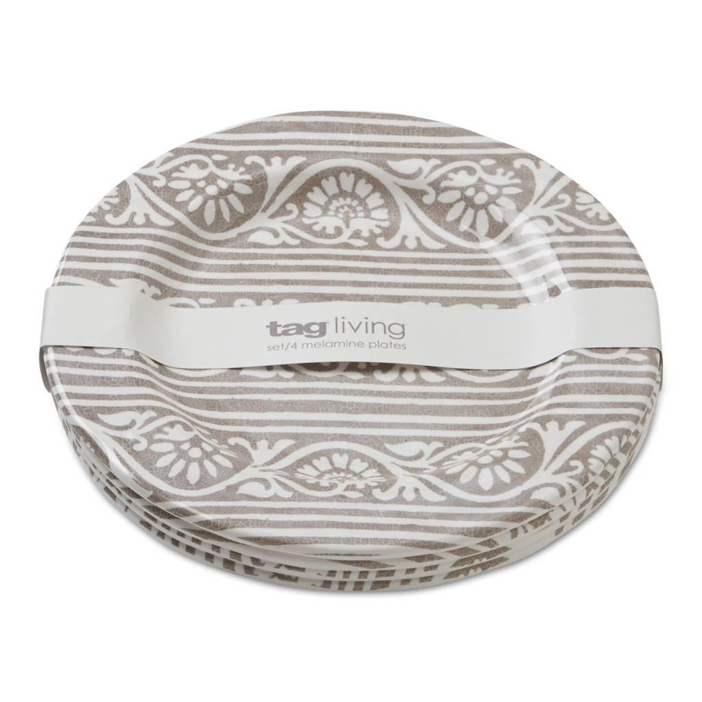 Design Home Artisan melamine salad plate grey