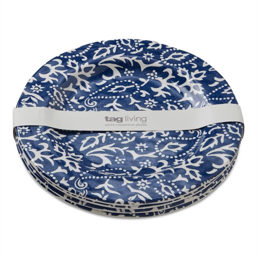 Design Home Artisan melamine dinner plate blue