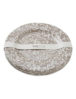 Design Home Grande Assiette Grise