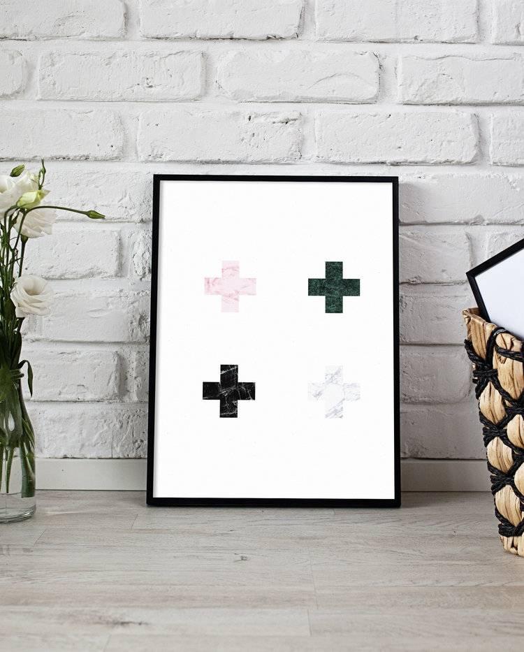 Fleur Maison Affiche Croix