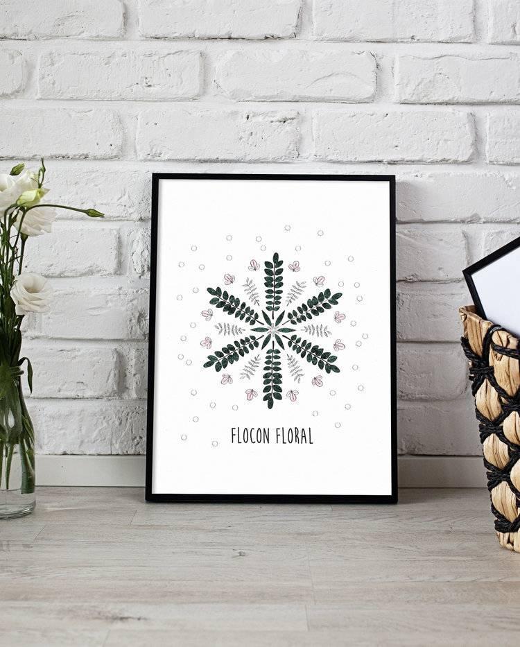 Fleur Maison Snowflake Poster