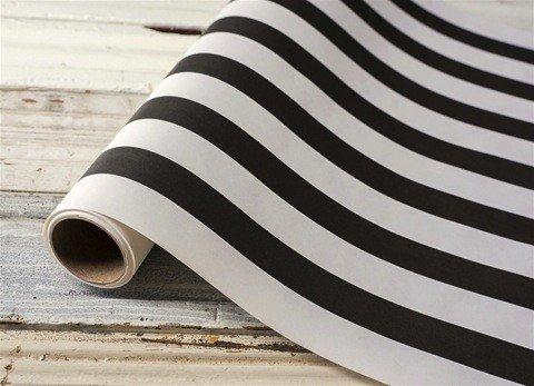 Chemin de Table Papier Ligné Noir