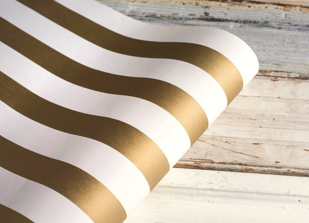 Paper Gold Stripes Runner