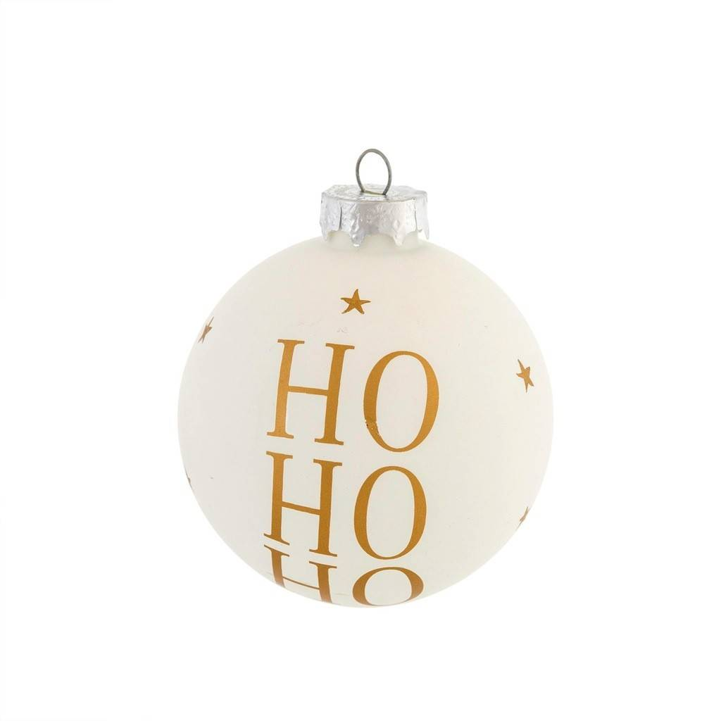 Indaba Hohoho Gold Ornament