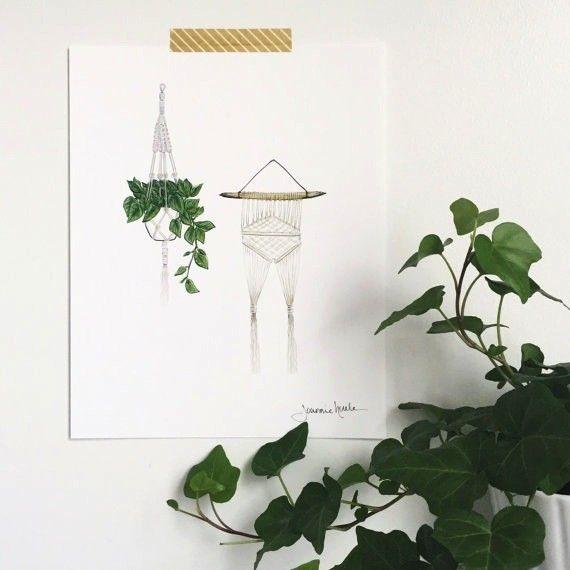 Joannie Houle Macrame and Plant Print