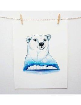Joannie Houle Polar Bear Print