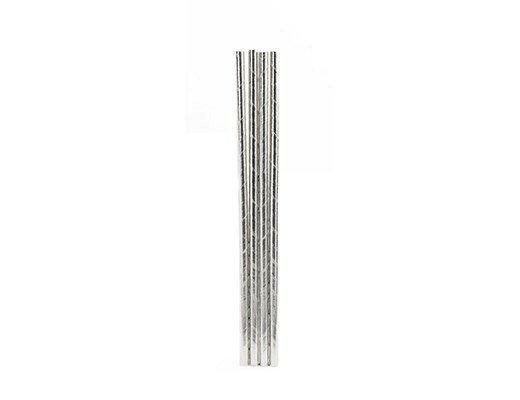 Kikkerland Silver Paper Straws