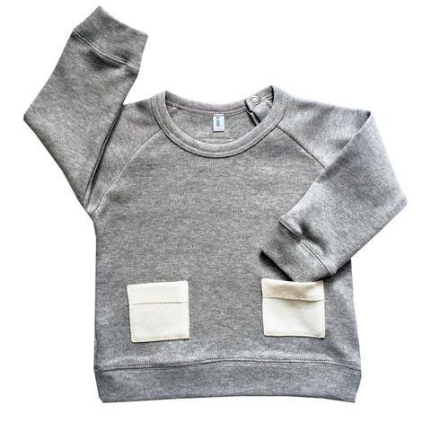 Organic Zoo Tricot Gris Poches