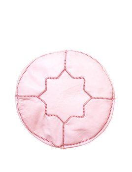 Small Pink Moroccan Pouf
