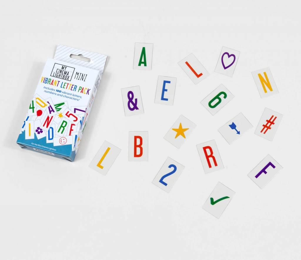 Cinema Lightbox Lettres Colorées - Boite Cinéma Petit Format