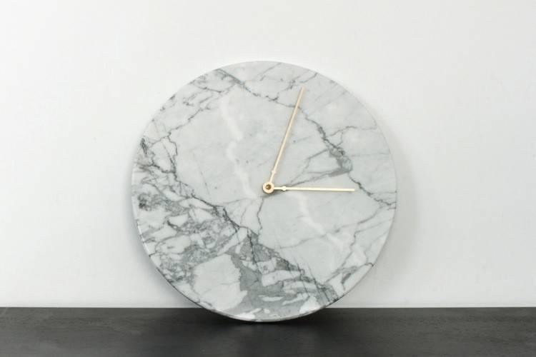 White Marble Clock