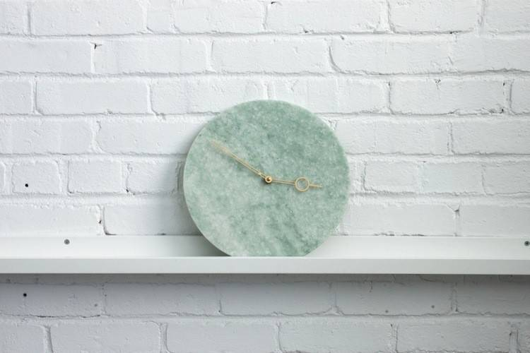 Turquoise Marble Clock