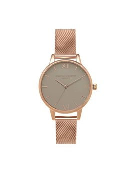 Olivia Burton Grey Dial Mesh Watch