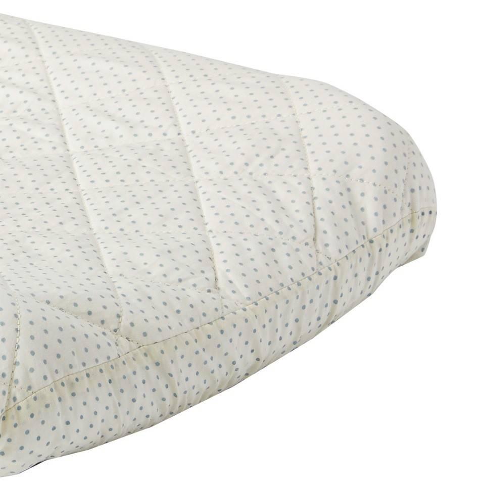 Pehr Design Drap tapis à langer pois bleus