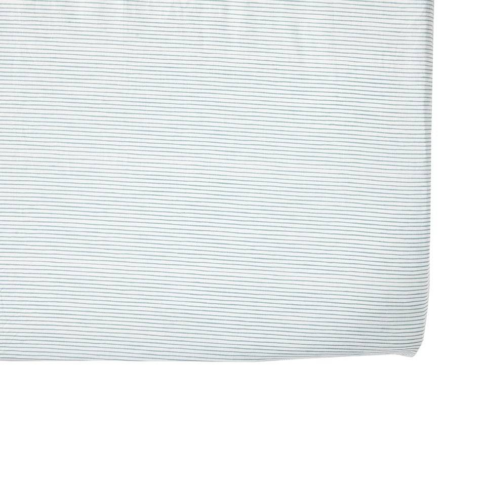 Pehr Design Blue Stripe Crib sheets
