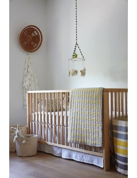 Pehr Design White Crib Skirt