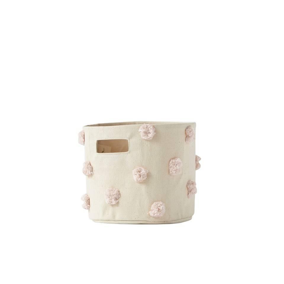 Pehr Design Mini Panier Pompons Rose