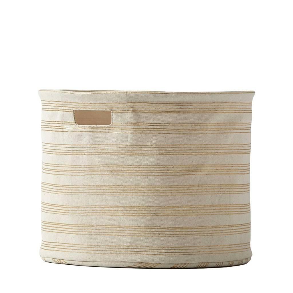 Pehr Design Medium Gold Stripe Drum