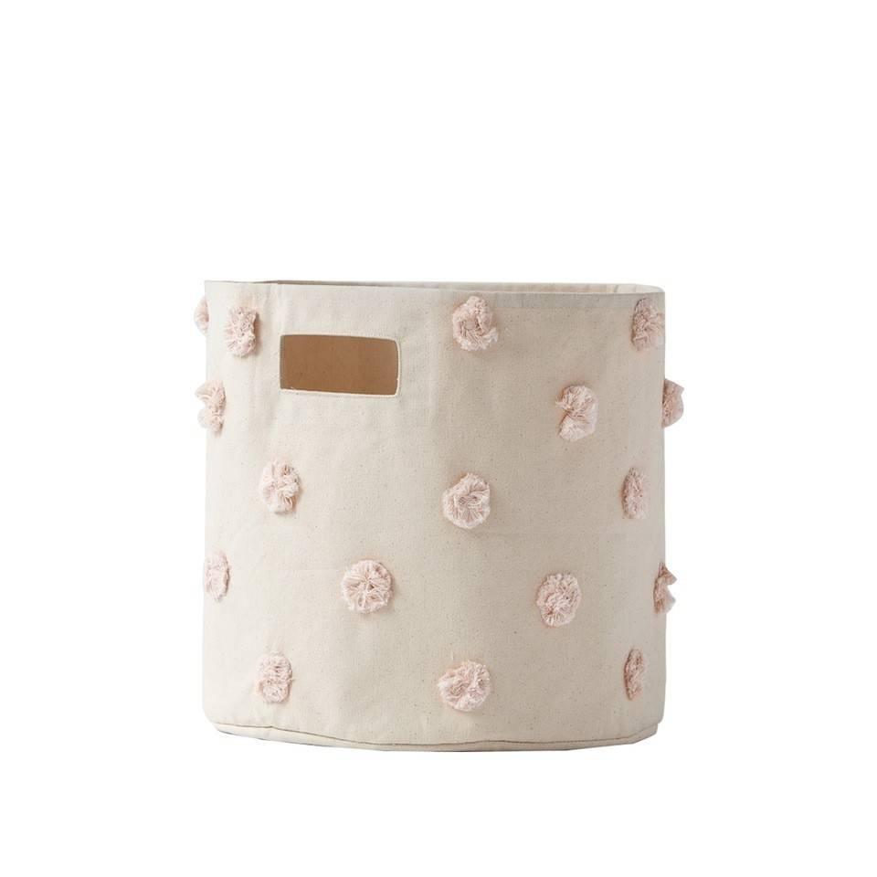 Pehr Design Moyen panier pompons rose