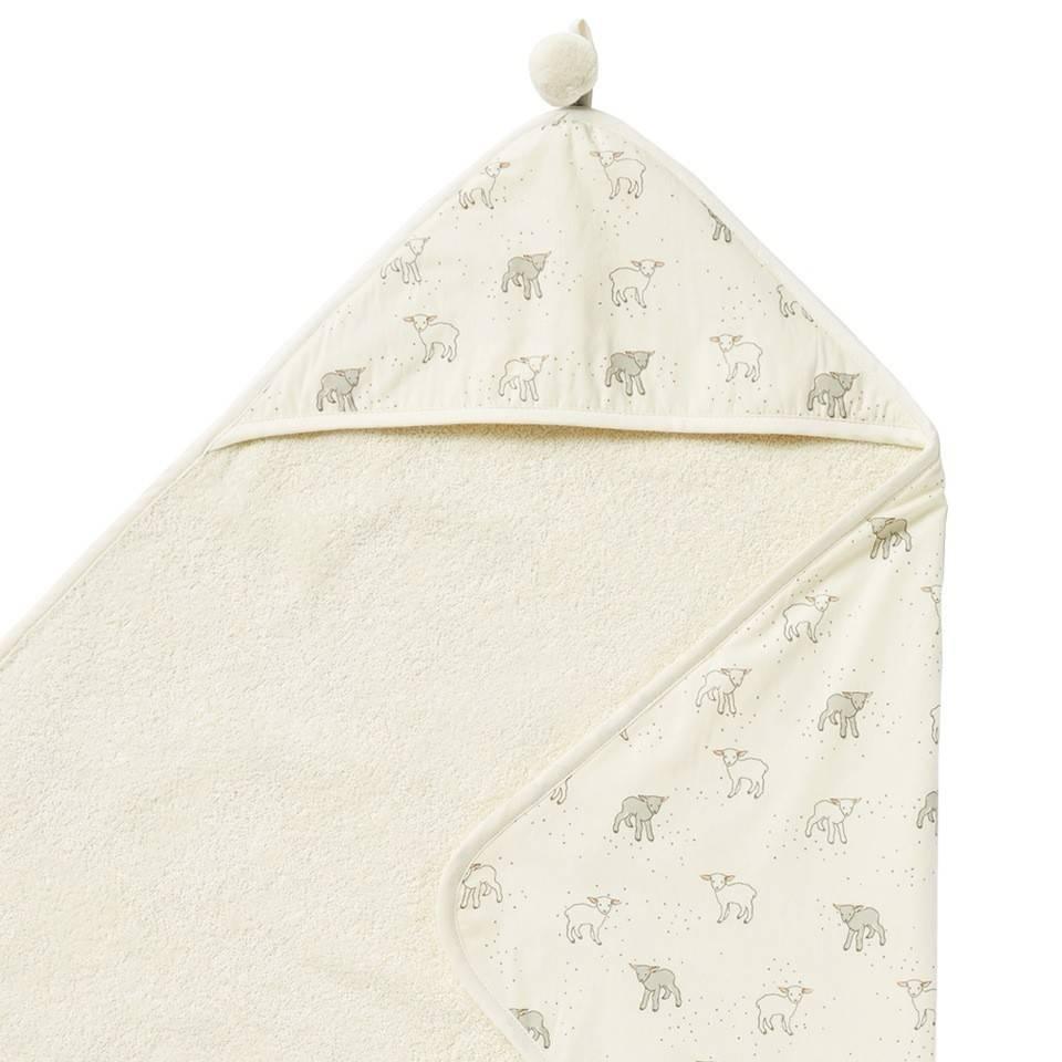 Pehr Design Serviette capuche agneaux