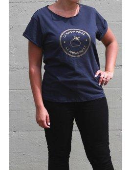 Ptit Mec Ptite Nana Maman Poule Vintage T-Shirt, marine