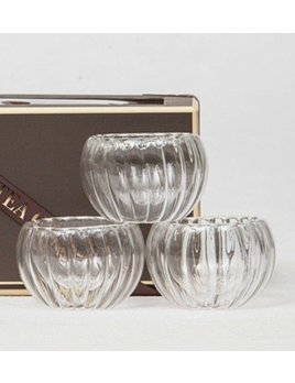 Rippled Glass set of 4