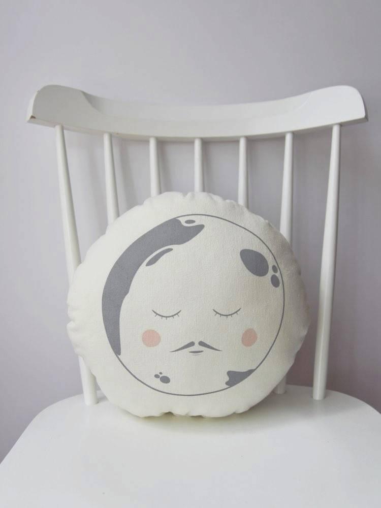 Sun and Stars Moon Round Cushion