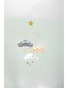 The Butter Flying Clouds and small star mobile Light Megan