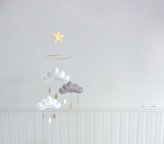 The Butter Flying 3 cloud and small star mobile Milan