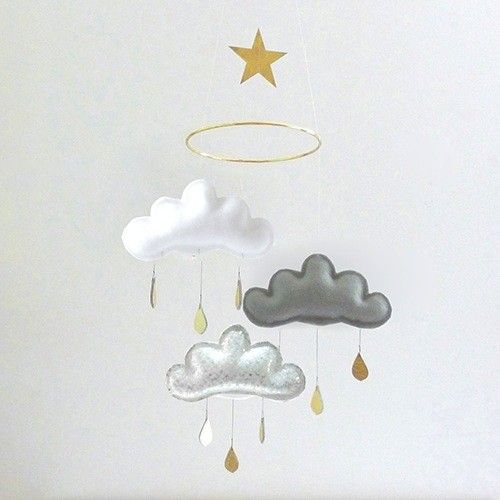 The Butter Flying Clouds and small Star Mobile Gold Milo
