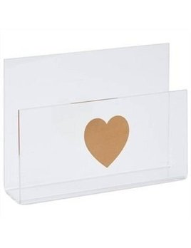 The Pink Orange Heart Letter Holder
