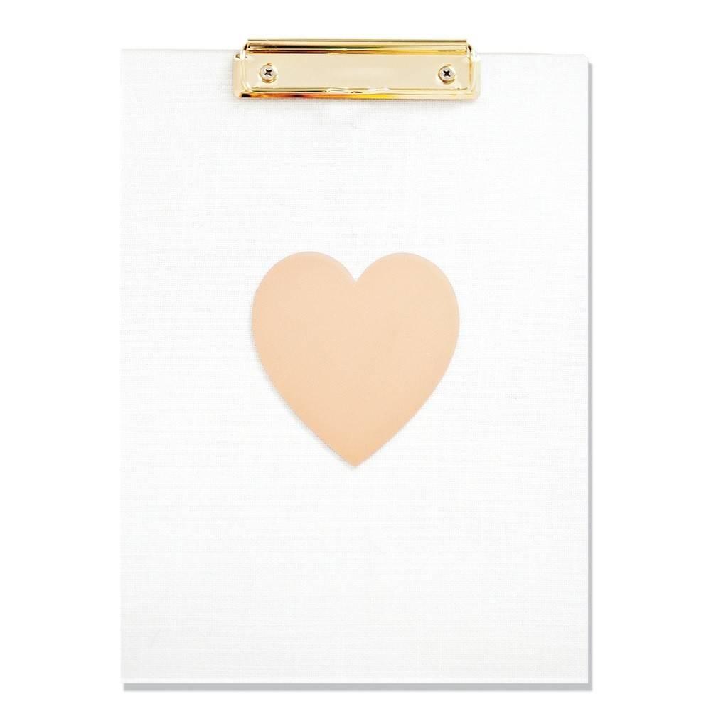 The Pink Orange Heart Clipboard