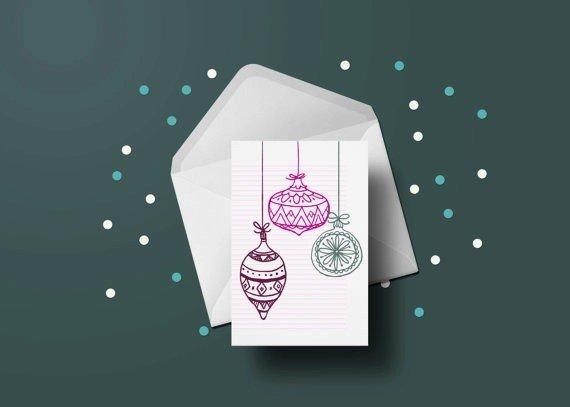 Toffie Carte Boules de Noel