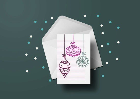 Toffie Christmas ornaments Greeting Card