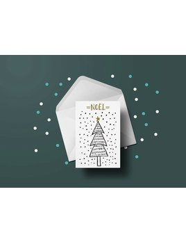 Toffie Christmas Tree Greeting Card