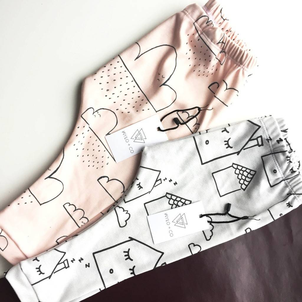 Wylo&Co Sleepy Houses Legging