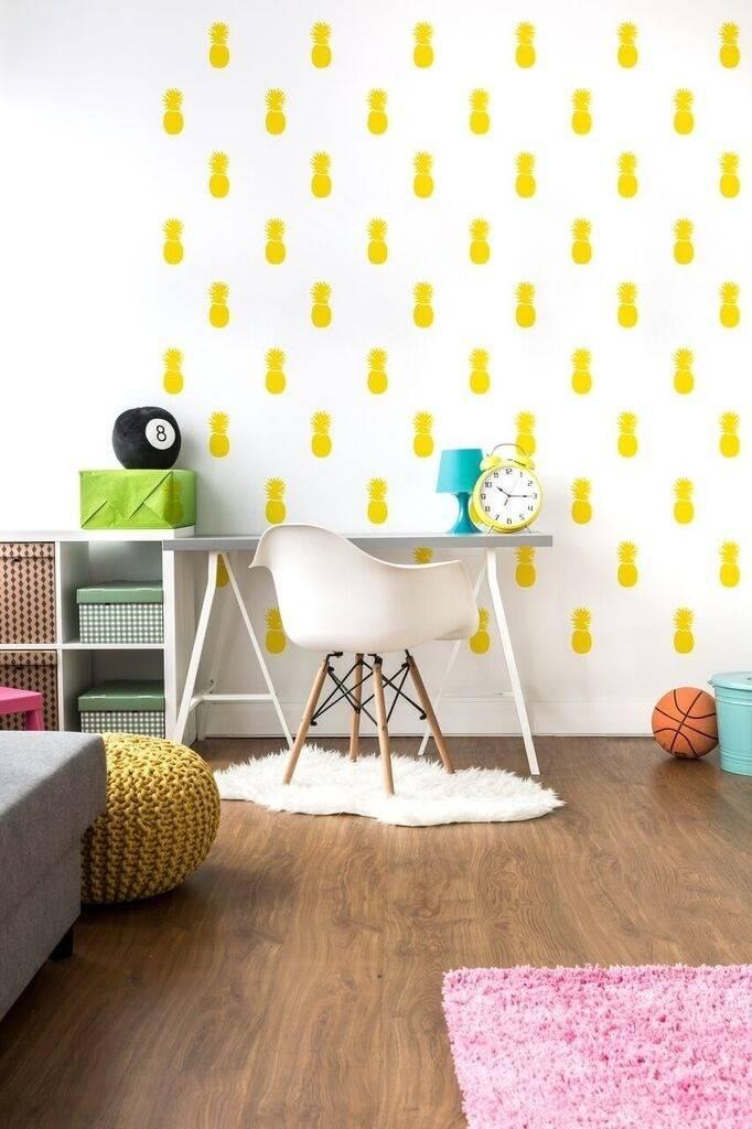 A D ZIF Autocollants muraux Ananas