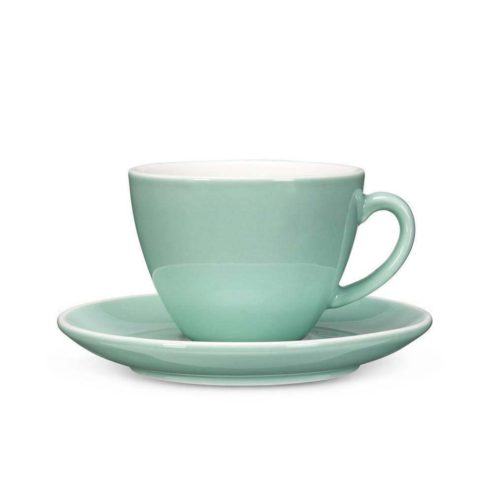Abbott Diner Cappuccino Cup and saucer Mint