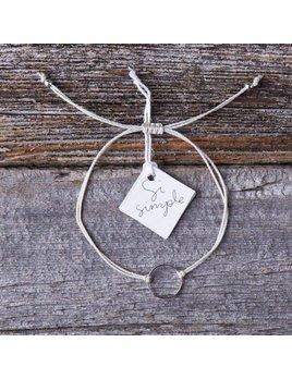 Si Simple Marilou Bracelet  - White & Silver