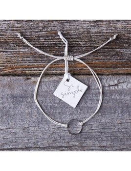 Si Simple White and Silver Marilou Bracelet